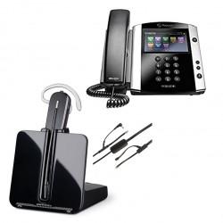 Pack auricular inalámbrico CS540 con teléfono IP VVX601