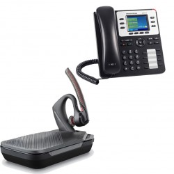 Pack auricular inalámbrico Voyager 5200 UC con teléfono IP GXP2130