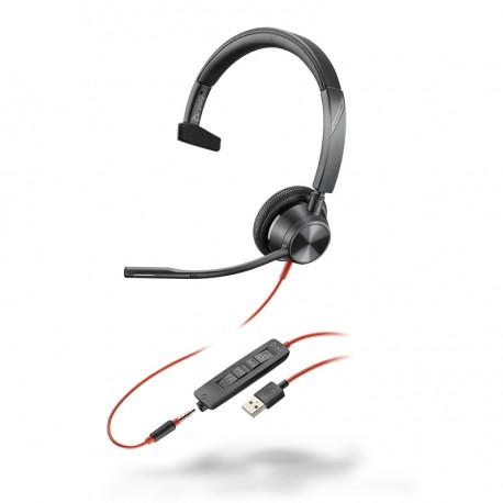 Auricular con cable Poly Blackwire 3215