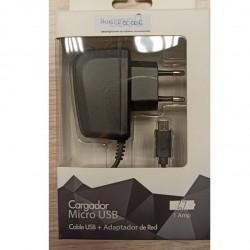 Cargador red micro USB (1 pieza)
