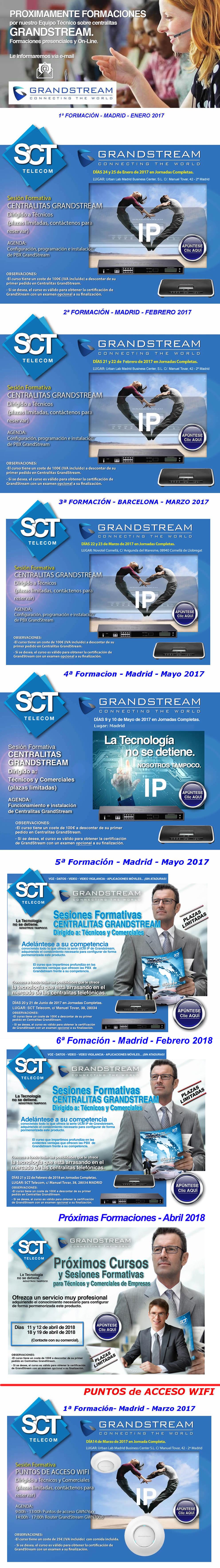 Proximas foramciones de GrandStream - Abril 2018 - Apuntate