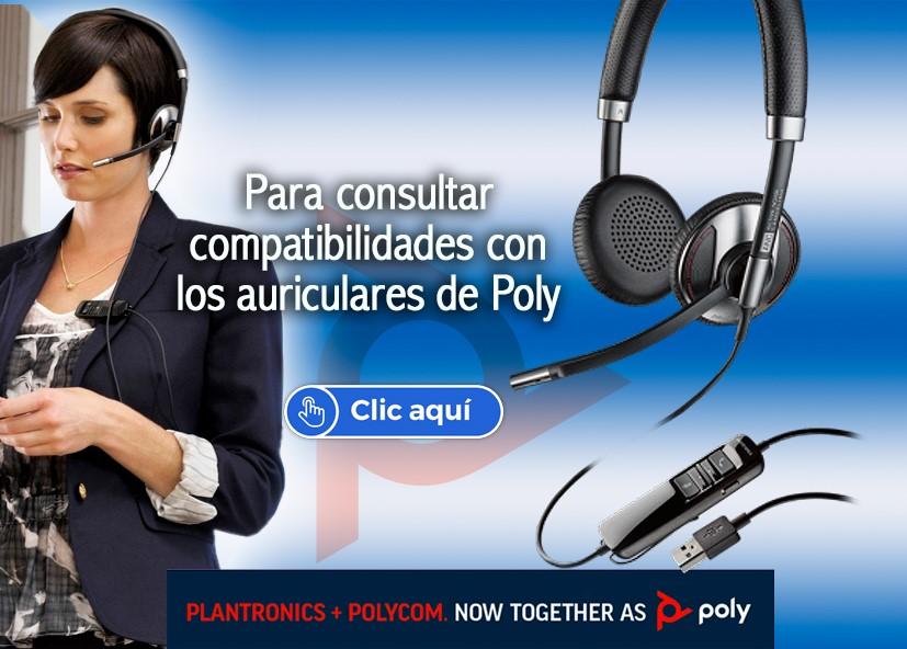 Compatibilidad auriculares Poly