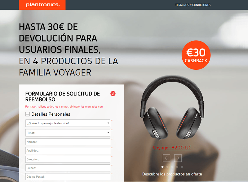 Reembolso Voyager 8200 UC