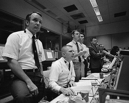 Centro de control de Houston en la Misión Apollo 13