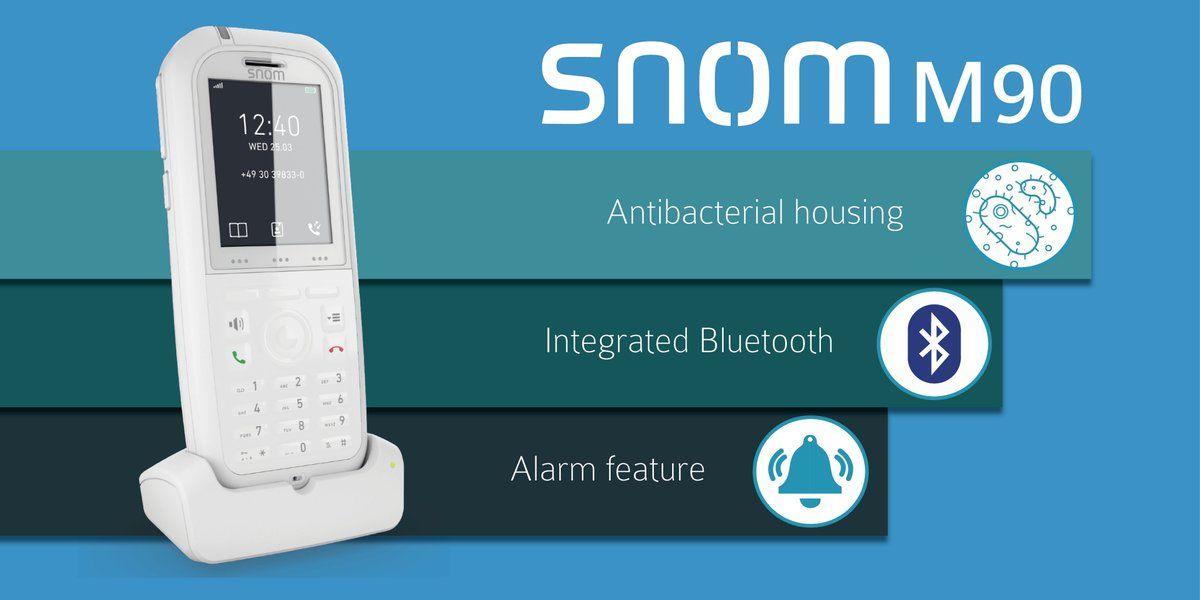 Teléfono antibacteriano SNOM M90