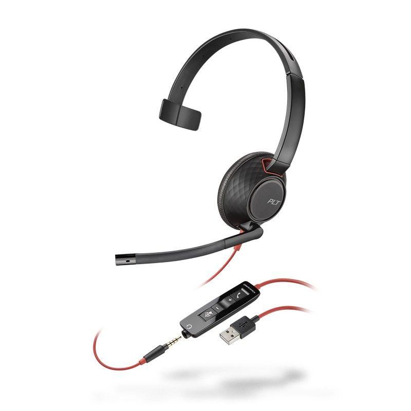 Auricular Plantronics blackwire 5210 para movil y pc