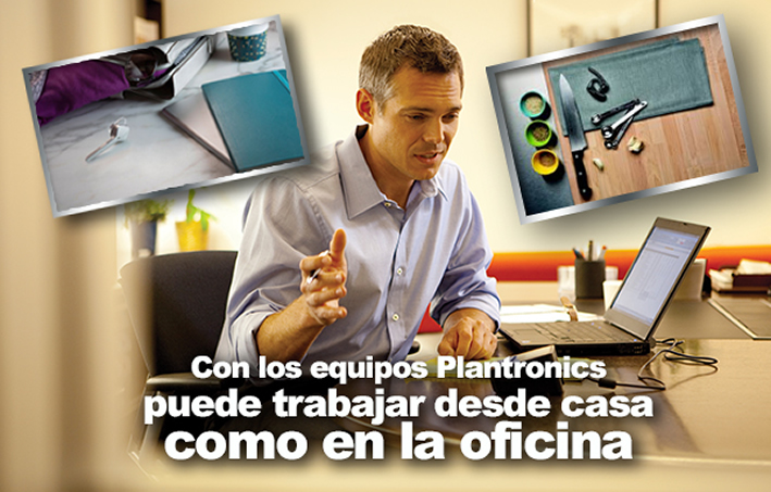 Trabaja comoda y eficazmente desde casa con Plantronics