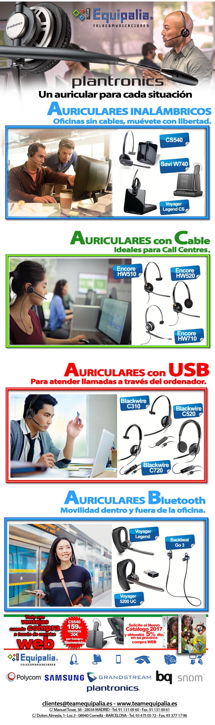 Un auricular plantronics para cada situacion